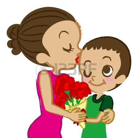 166 Mom Kiss Son Stock Illustrations, Cliparts And Royalty Free.