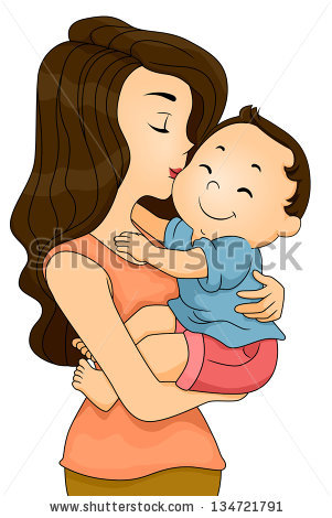 Baby Cuddle Stock Images, Royalty.