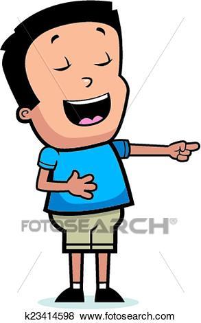 Cartoon Boy Laughing Clip Art.