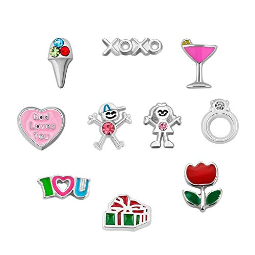 Amazon.com: Q&Locket Boy Girl XOXO Promise Ring Floating.
