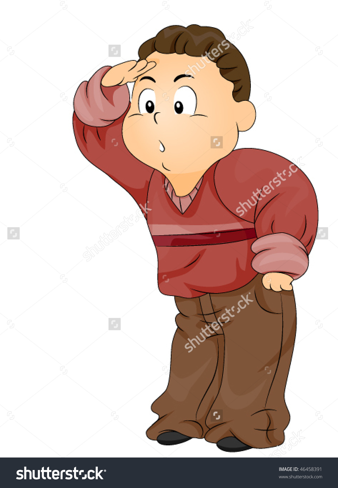 Child Searching Looking Something Vector Stock Vector 46458391.