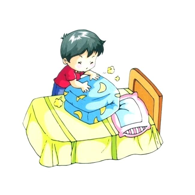kid bed clipart.