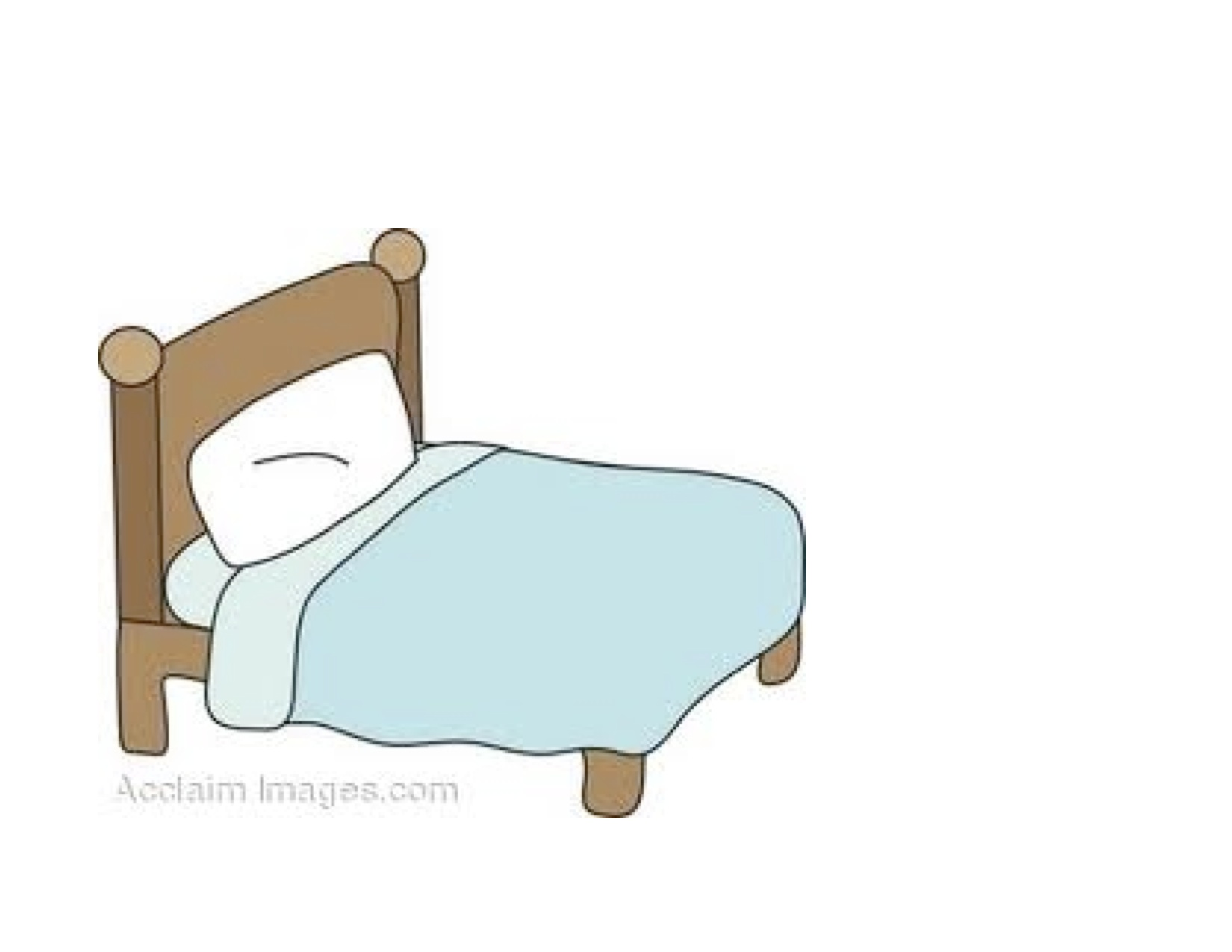 Boy Making Bed Clipart.