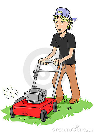 240 Mowing free clipart.