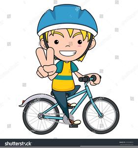 Boy Riding A Bike Clipart.