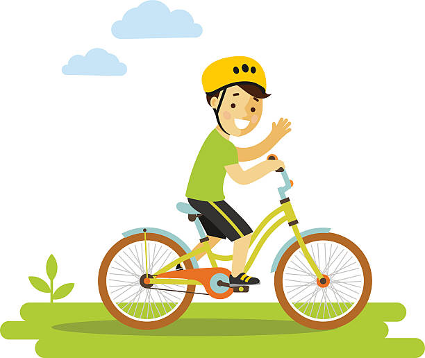 Top 60 Boy Riding Bike Clip Art, Vector Graphics and Illustrations.