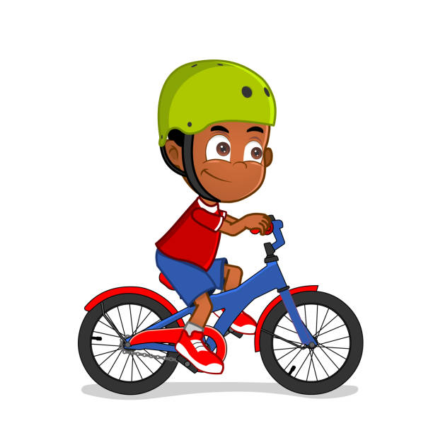 Boy Riding Bike Clipart.