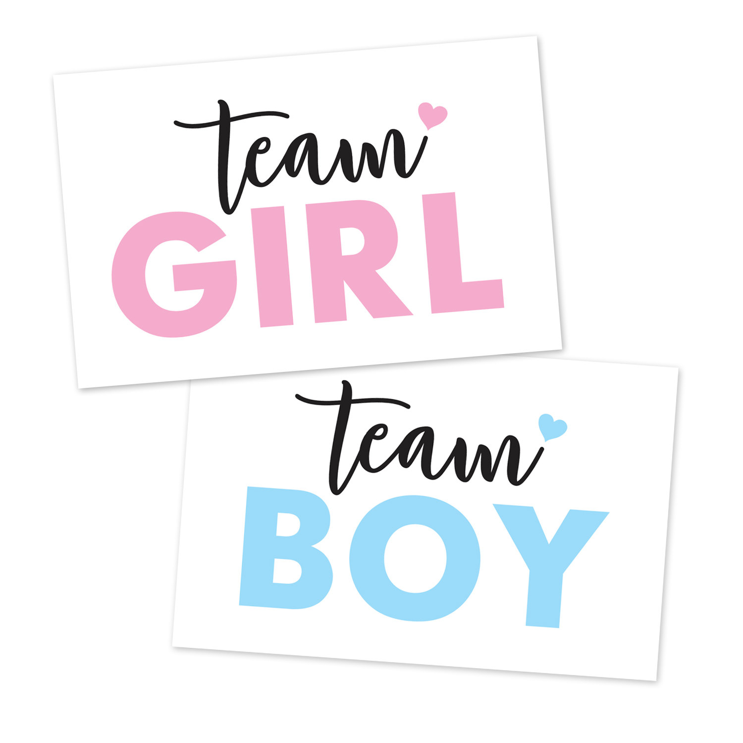Printable Gender Reveal Team Boy, Team Girl, Signs.