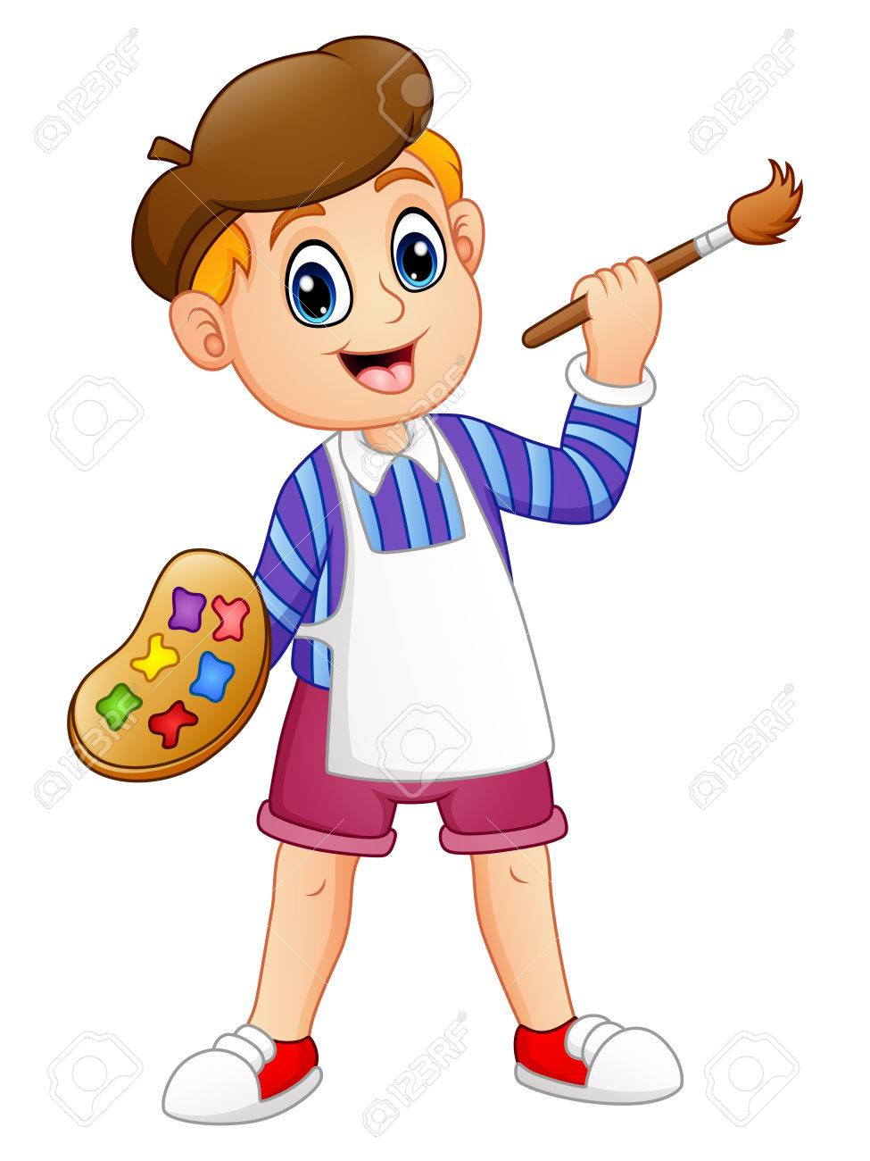 Boy painting clipart 8 » Clipart Station.