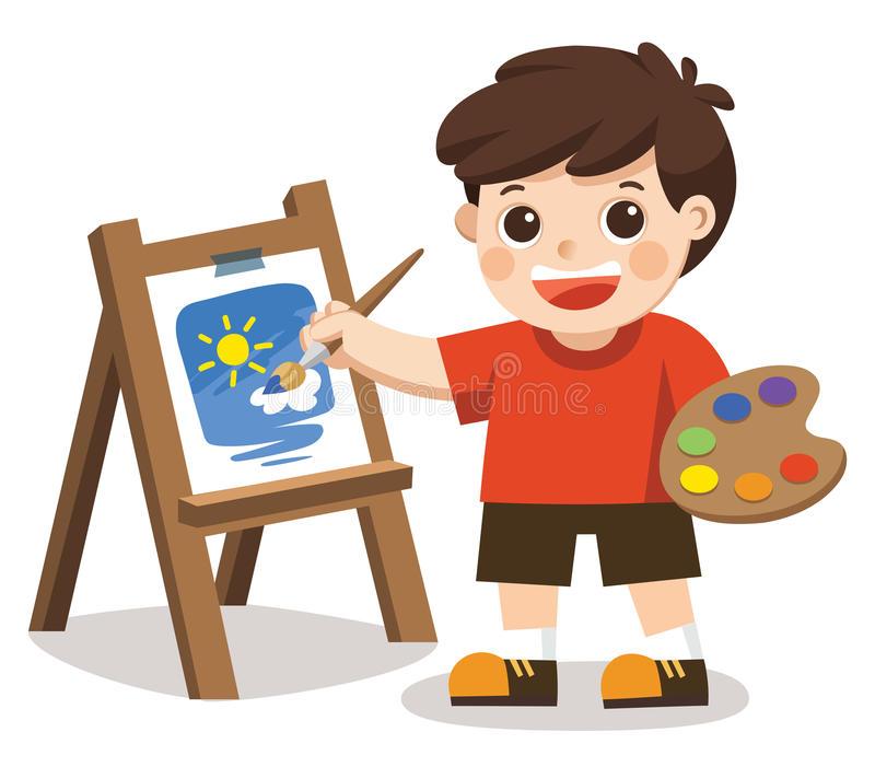 Artist Boy Stock Illustrations.
