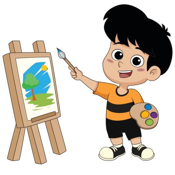 Best Child Painter Illustrations, Royalty.