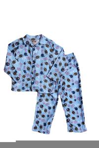 Boys In Pajamas Clipart.