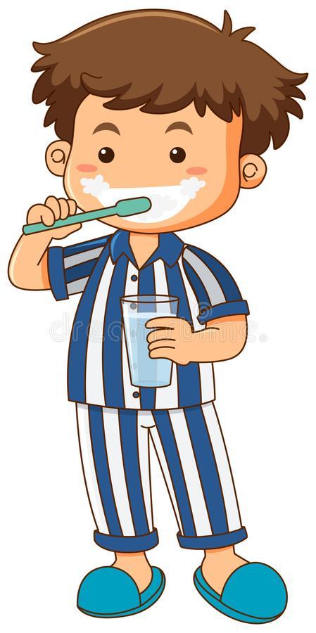 Boy Pajamas Stock Illustrations.