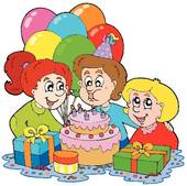 Clip Art of balloon, boy, party, event, girl, child u18707492.