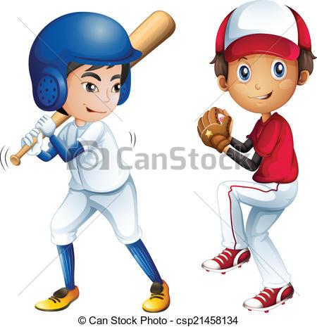 Kids playing baseball.