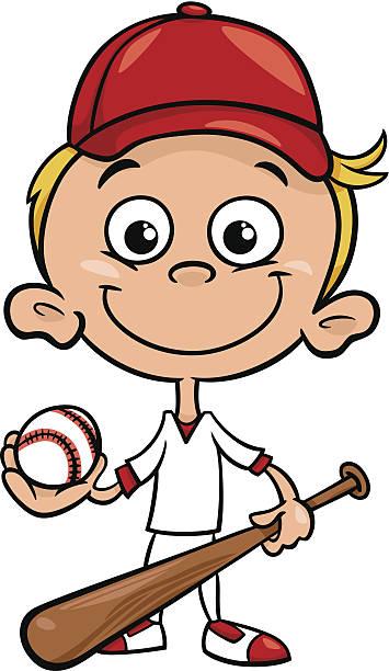 Best Boy Playing Baseball Drawing Illustrations, Royalty.