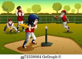 Boy Playing Baseball Clip Art.