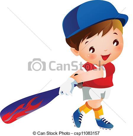 Boy playing baseball.
