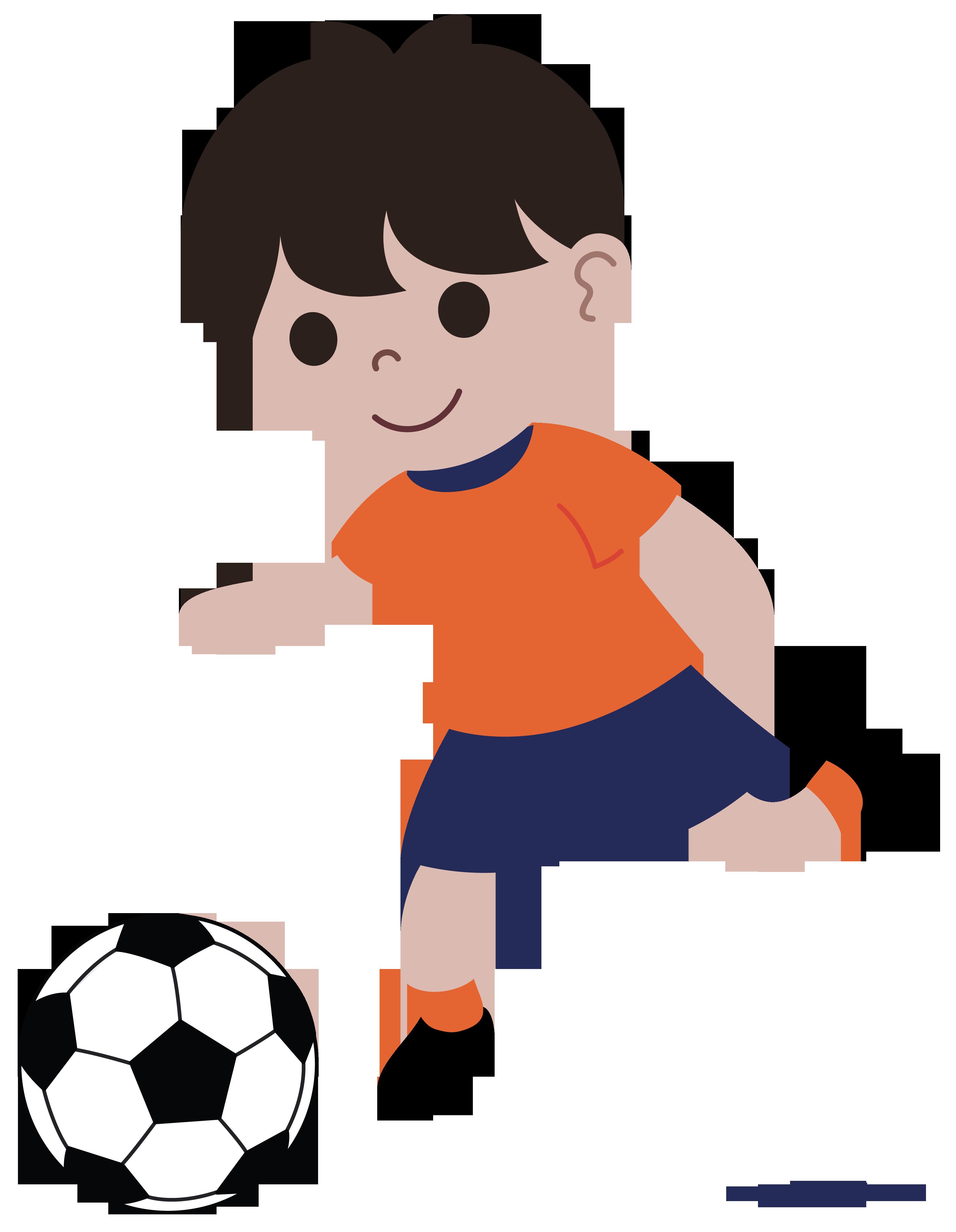Boy Playing Soccer Clip Art.