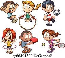 Kids Playing Clip Art.