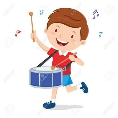 Image result for boy play drum happy clipart.