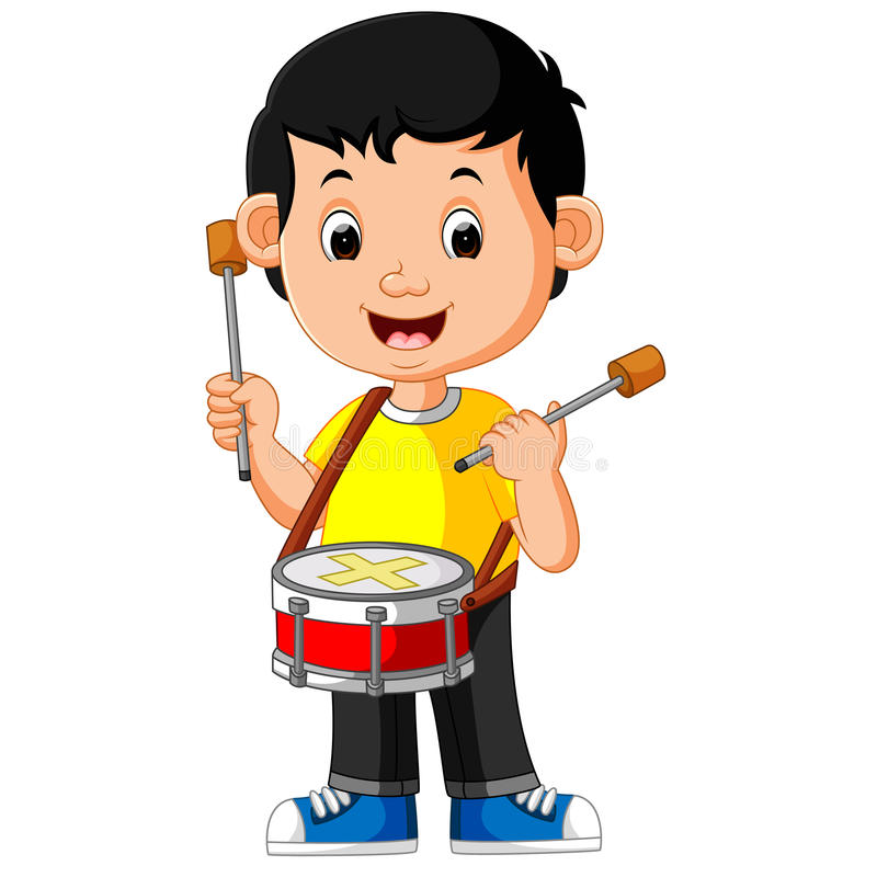 Playing Drum Stock Illustrations.