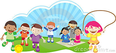 Children Playing Outside Clipart.