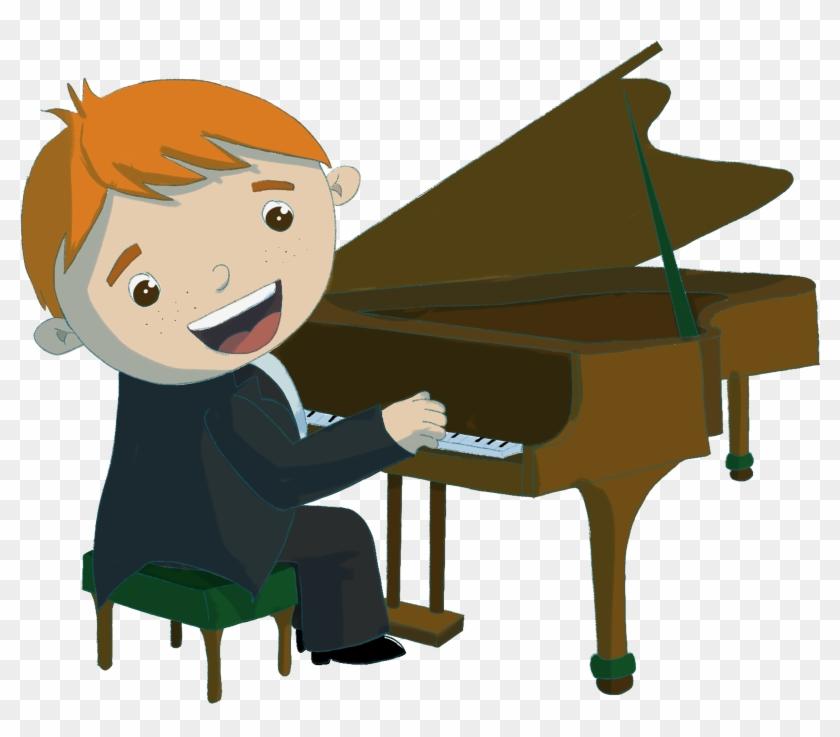 Boy Playing Piano Png.