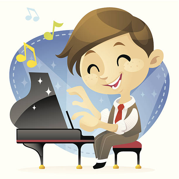 Best Boy Playing Piano Illustrations, Royalty.