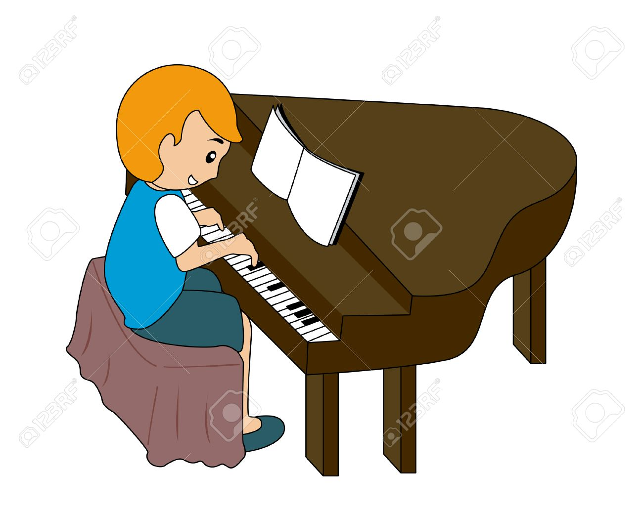 Child playing Piano.