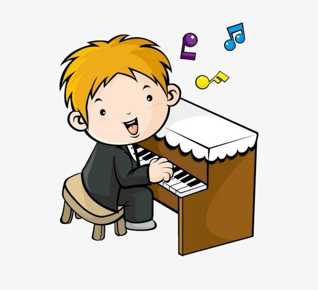 Cartoon Boy Playing The Piano PNG, Clipart, Art, Boy Clipart.