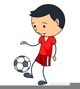 Boy Playing Soccer Clipart.