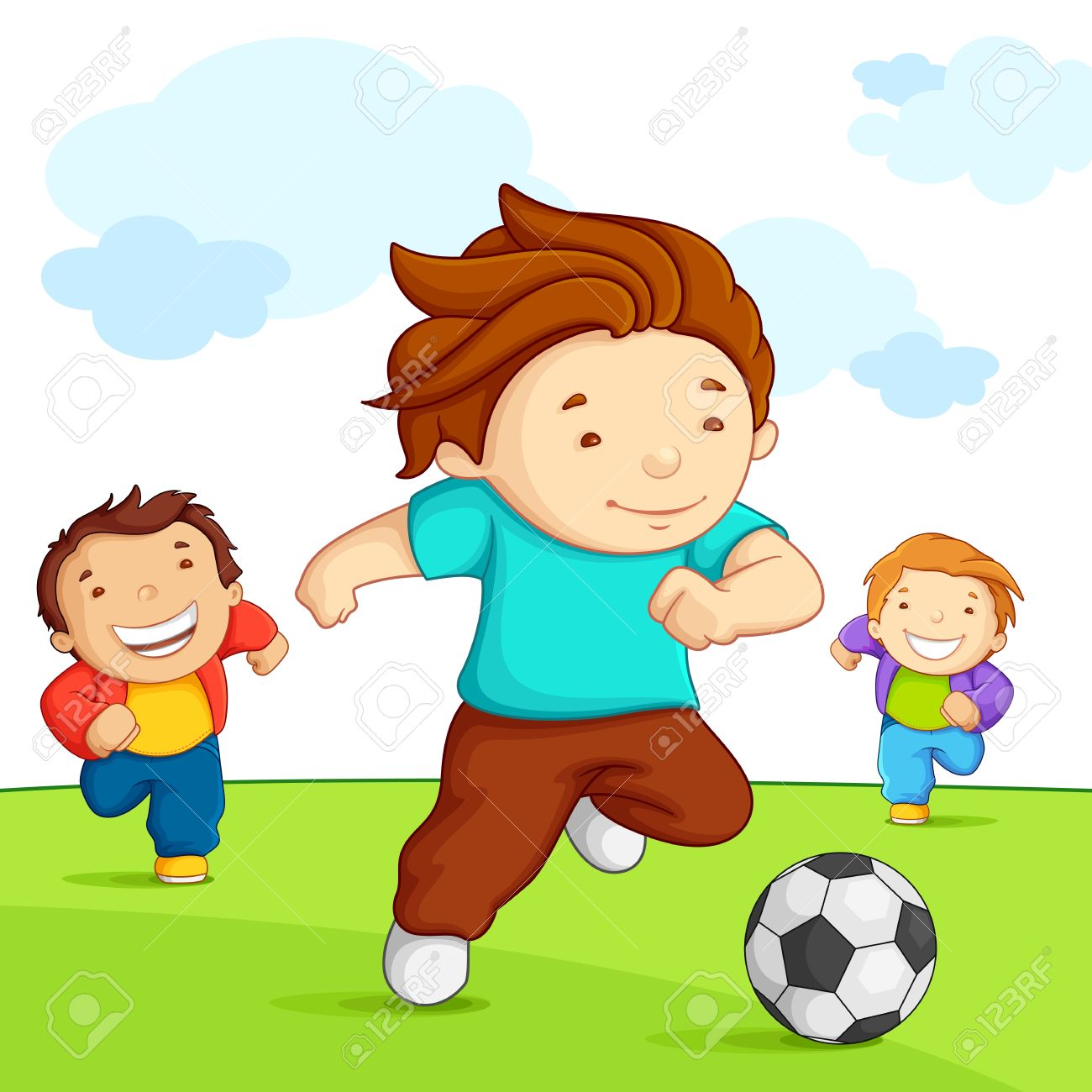 Boy playing soccer clipart 4 » Clipart Station.
