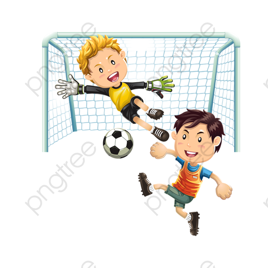 Children Playing Soccer, Soccer Clipart, Children Clipart PNG.