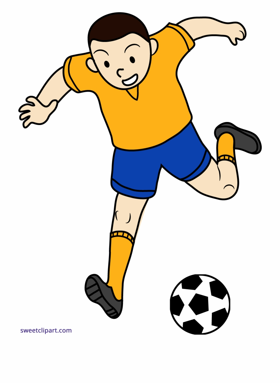 Png Royalty Free Library Boy Playing Soccer Clipart.