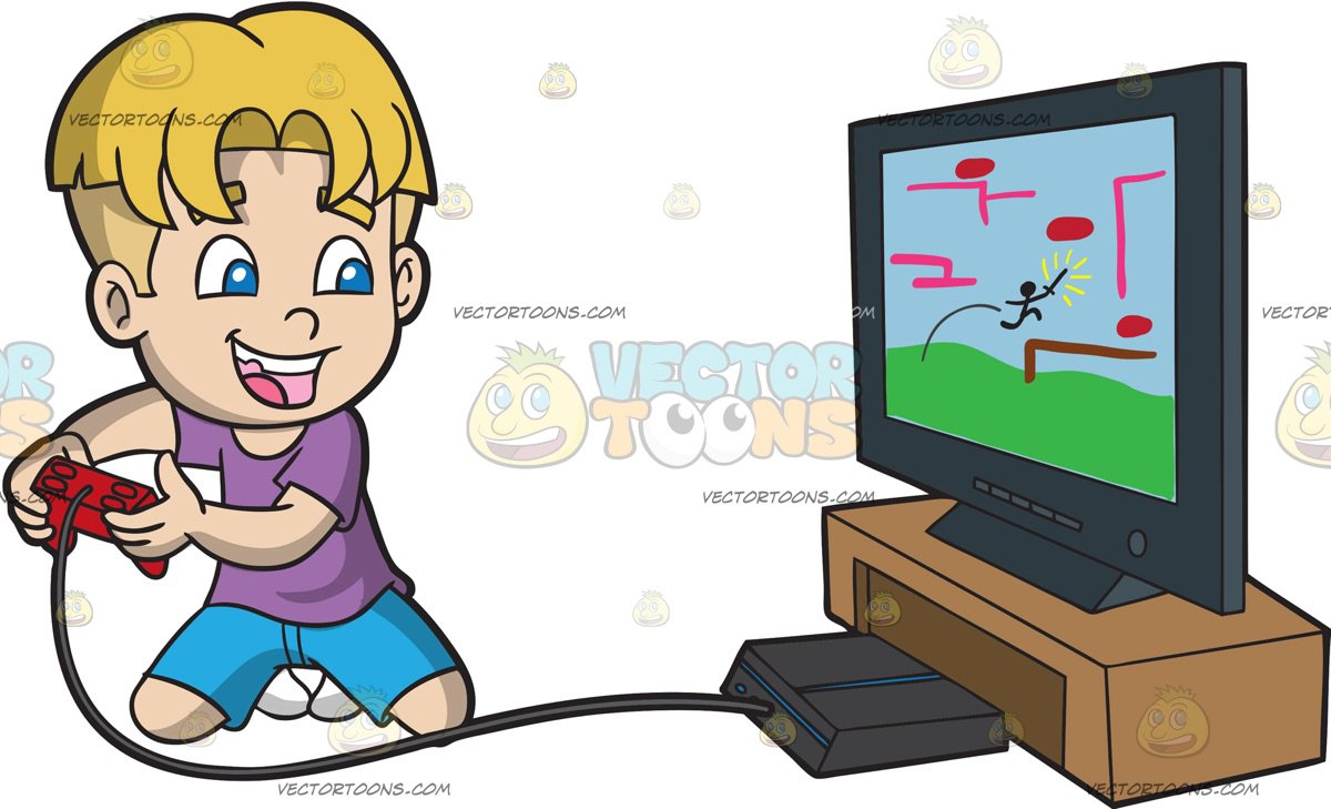 Boy playing video games clipart 4 » Clipart Station.