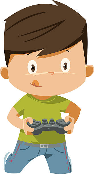 Best Playing Video Games Illustrations, Royalty.