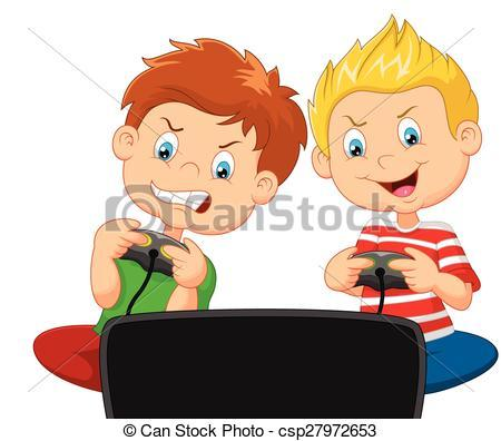 Boy playing video games clipart 2 » Clipart Portal.