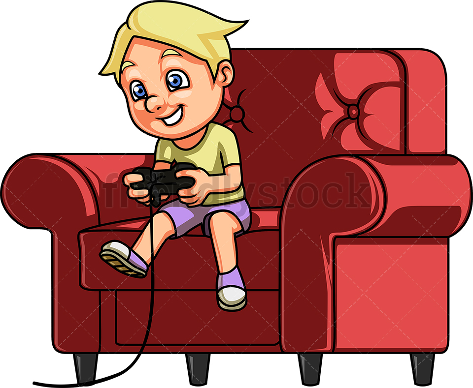 Little Boy Playing Video Games.
