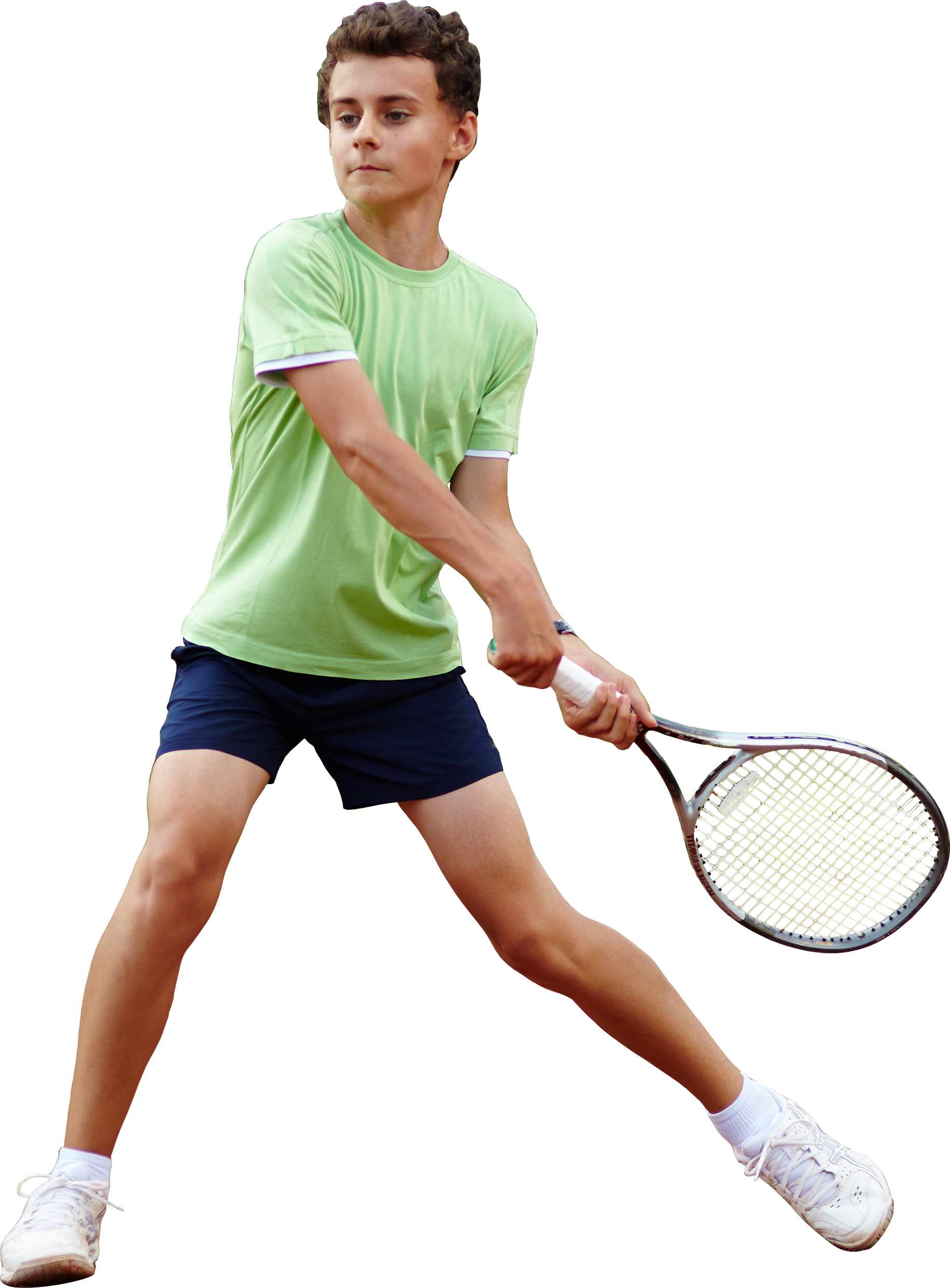 Tennis player boy PNG image.