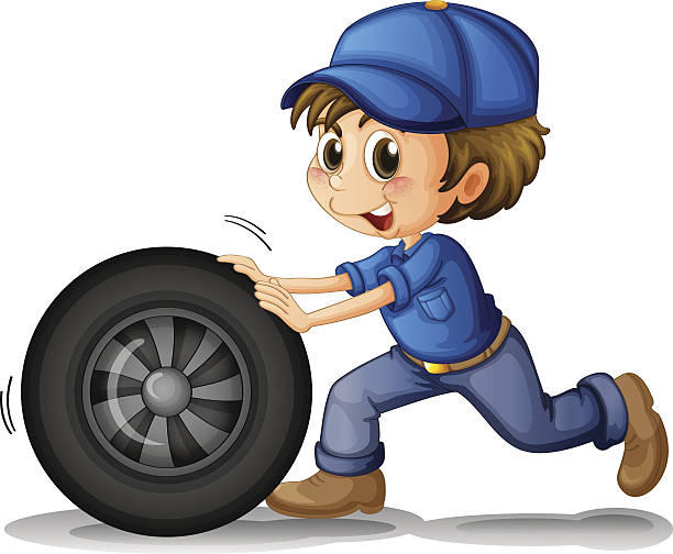 Boy Pushing Clip Art, Vector Images & Illustrations.