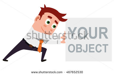 Cartoon Employee Illustration Pushing Vector Stock Photos, Royalty.
