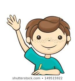 Boy raising hand clipart 1 » Clipart Portal.