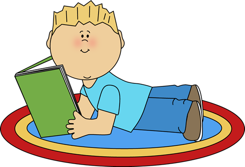 Boy Reading Clip Art.