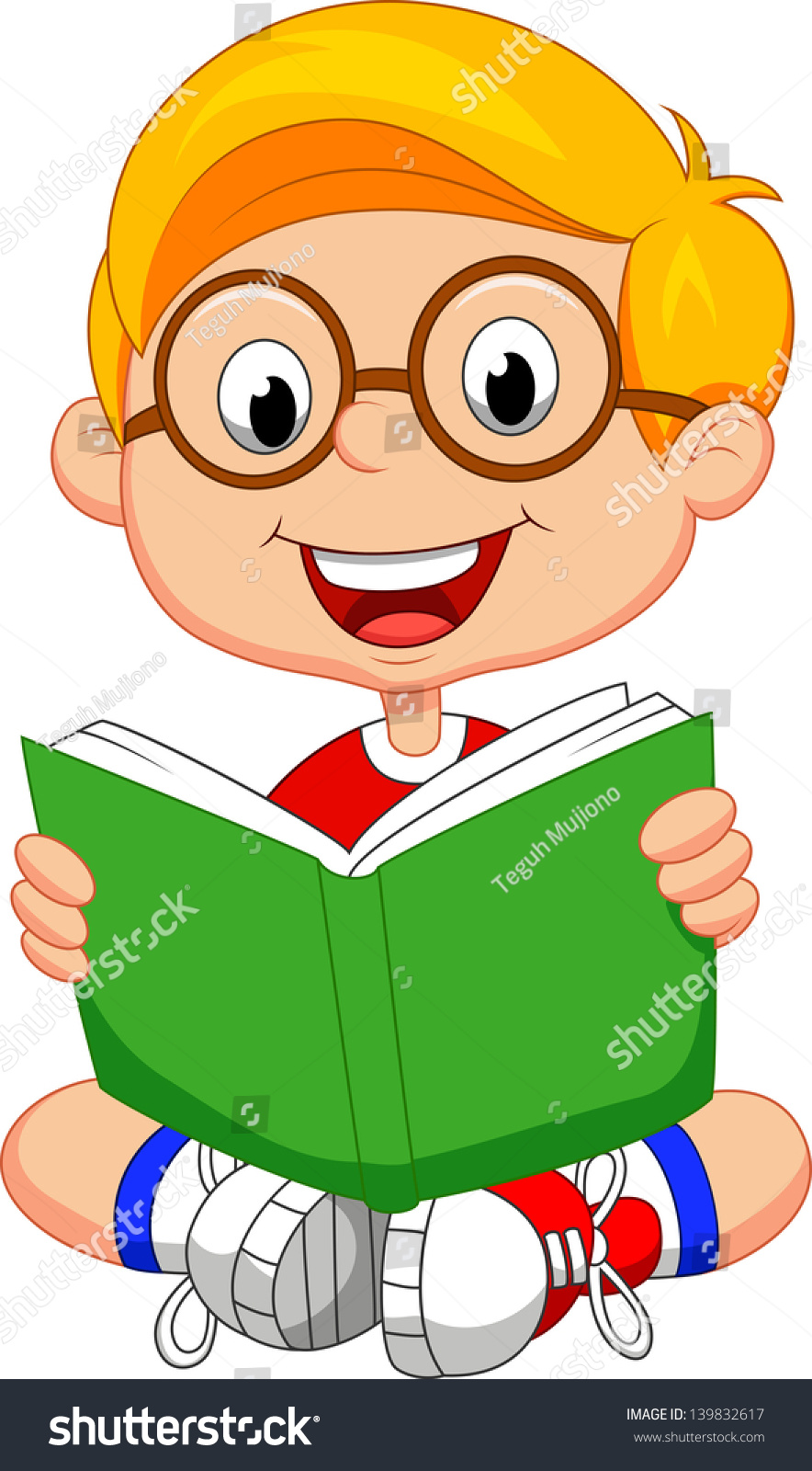 Boy reading clipart 2 » Clipart Station.