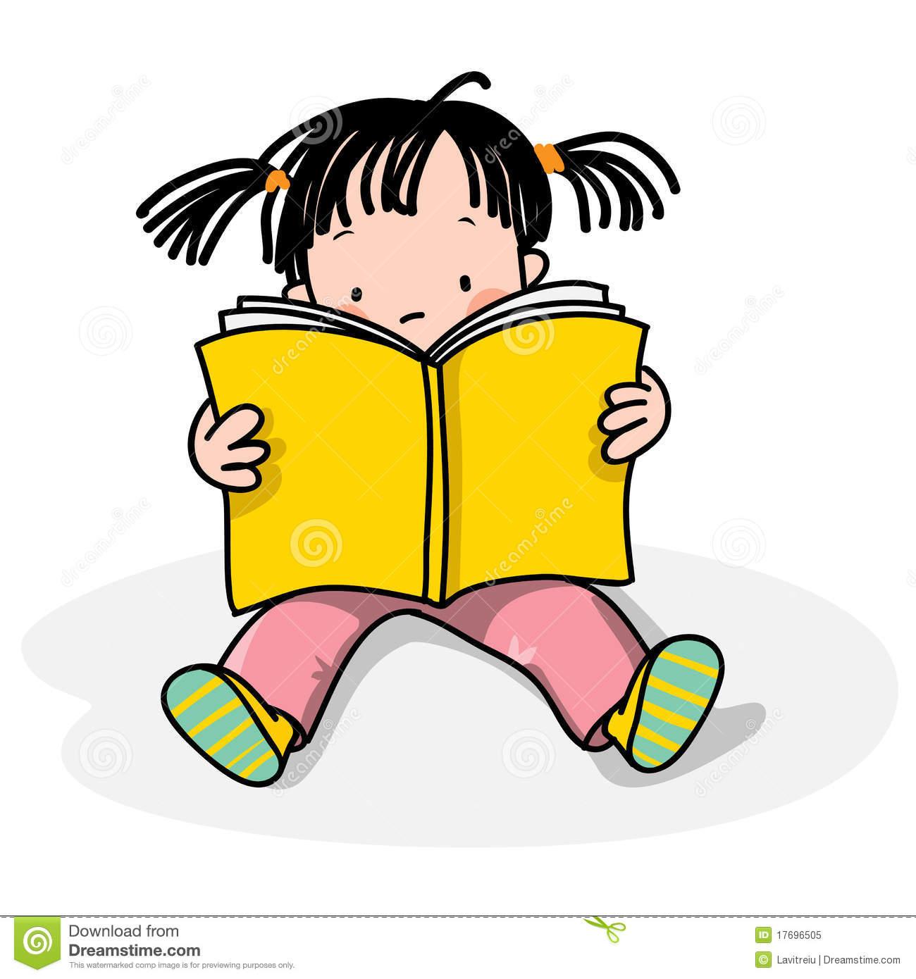 Clipart Kid Reading.