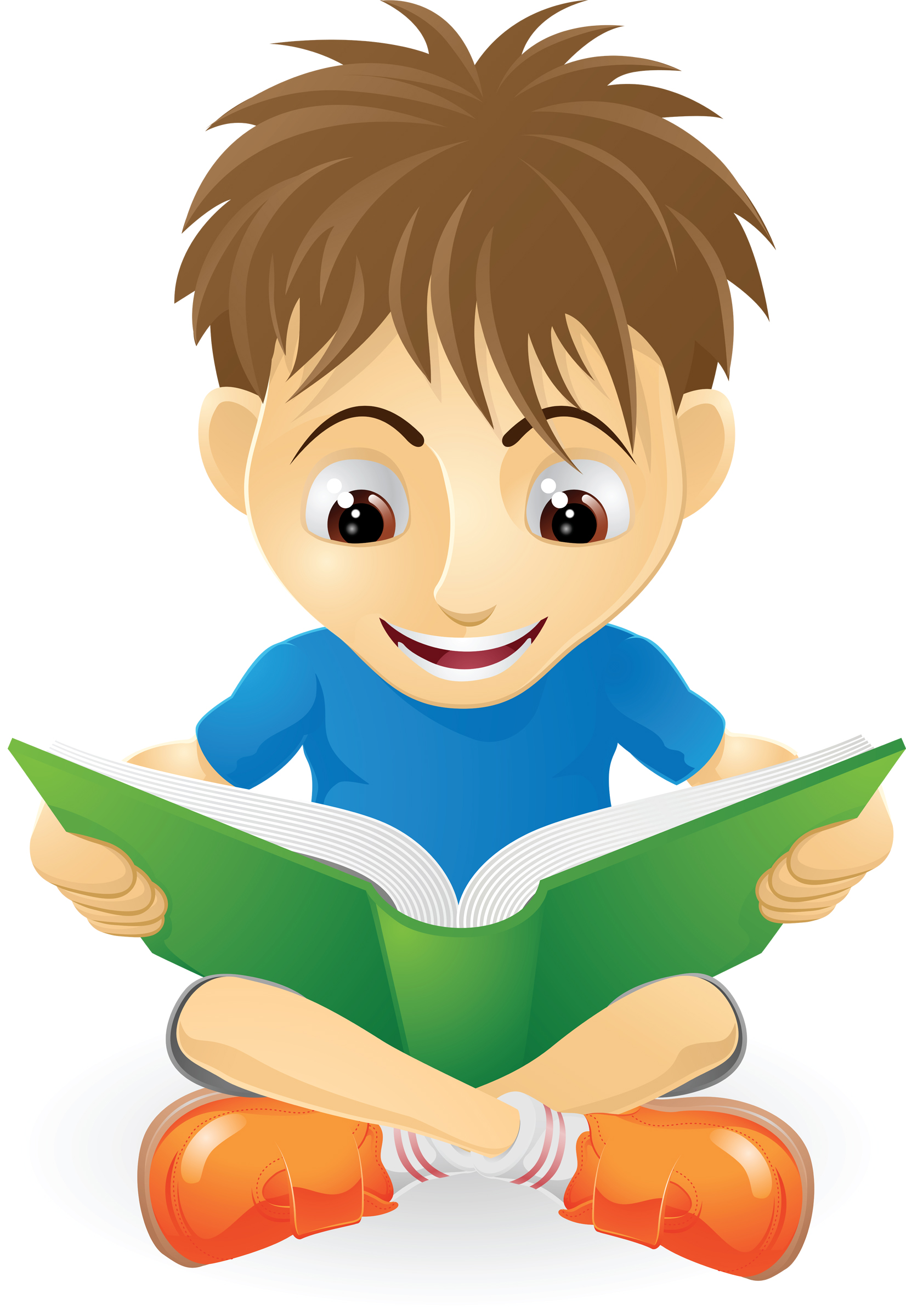 Boy Reading Clipart Free.
