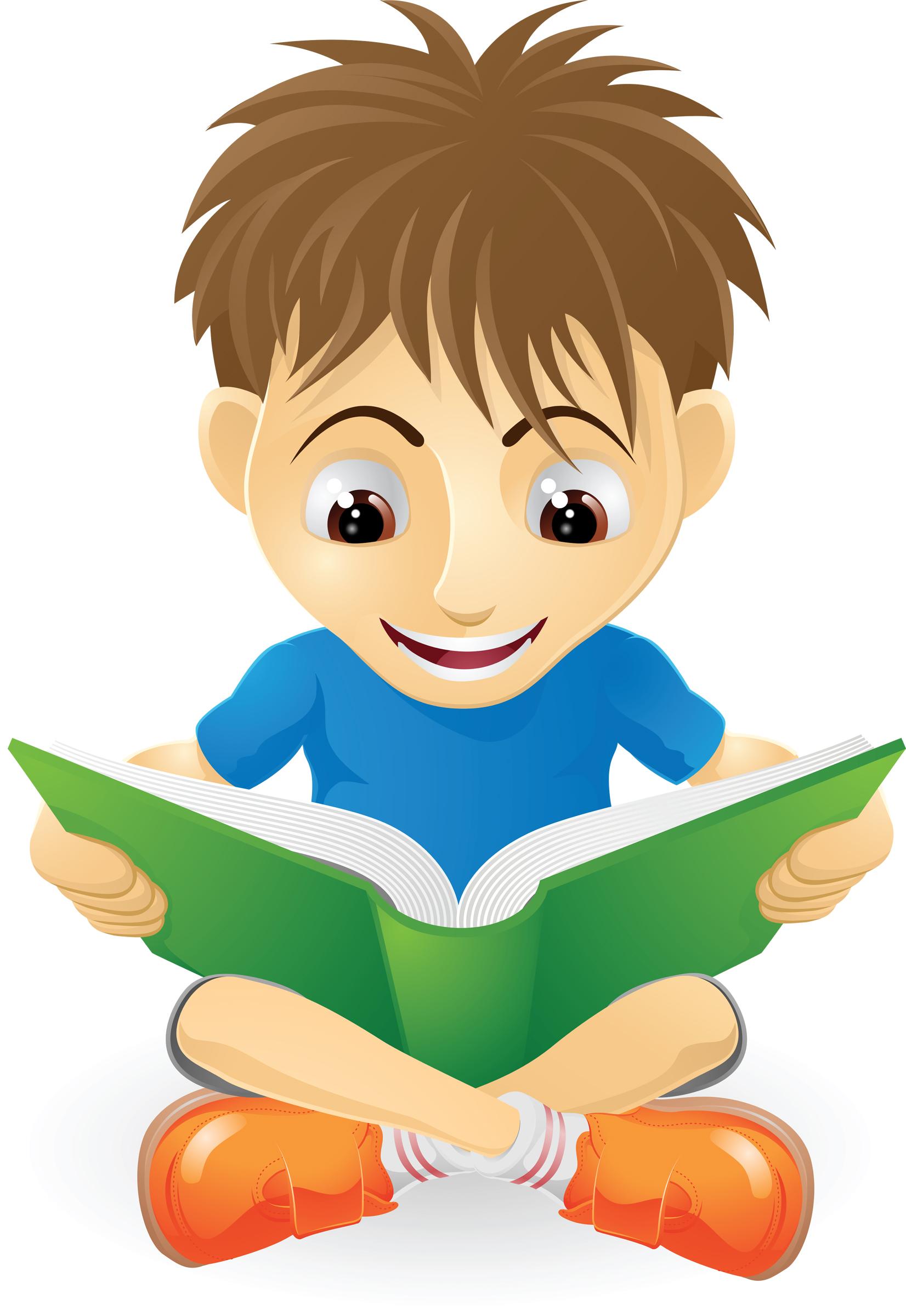Boy Reading Clipart Free.