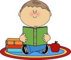 Clipart Boy Reading.