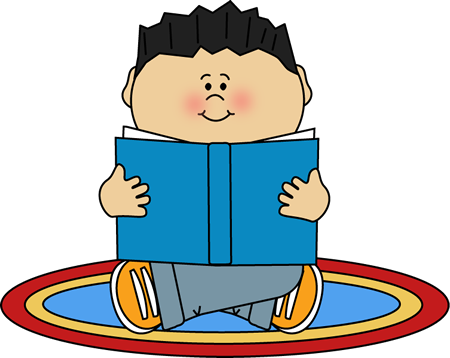 Clipart Boy Reading.